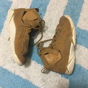 JORDAN Youth True Flight Tan Sneakers